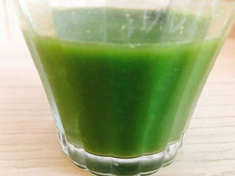 ノコギリヤシ青汁を作ったところ